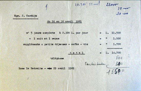 Retreat House Rome 24-30 April 1961