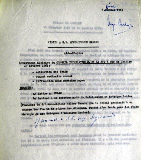 Aide-Mémoire Samoré 07 02 1961