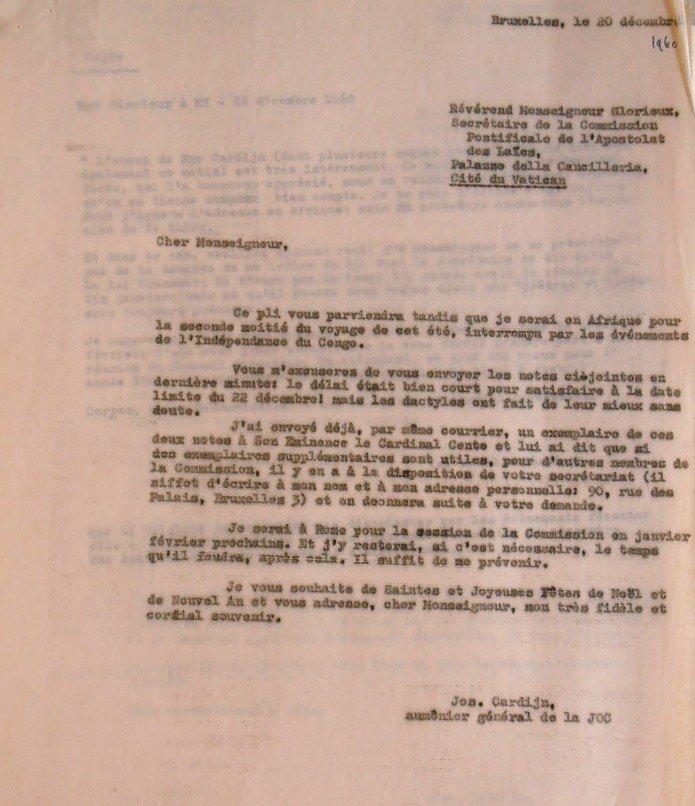 Cardijn Glorieux 20 12 1960