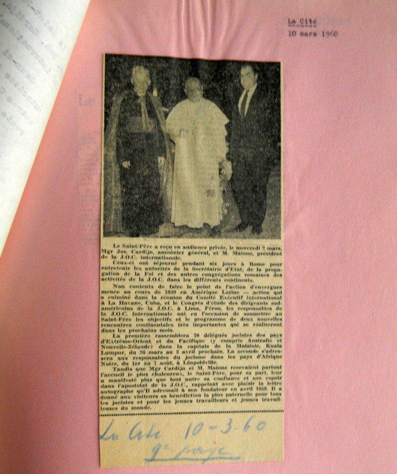 John XXIII, Cardijn, Maione