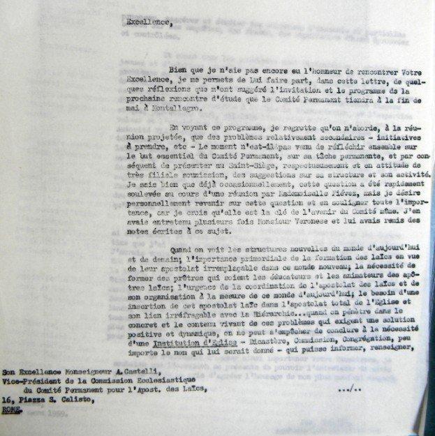 Cardijn - Castelli 25 03 1959
