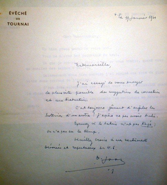Joos - Fiévez 19 01 1961