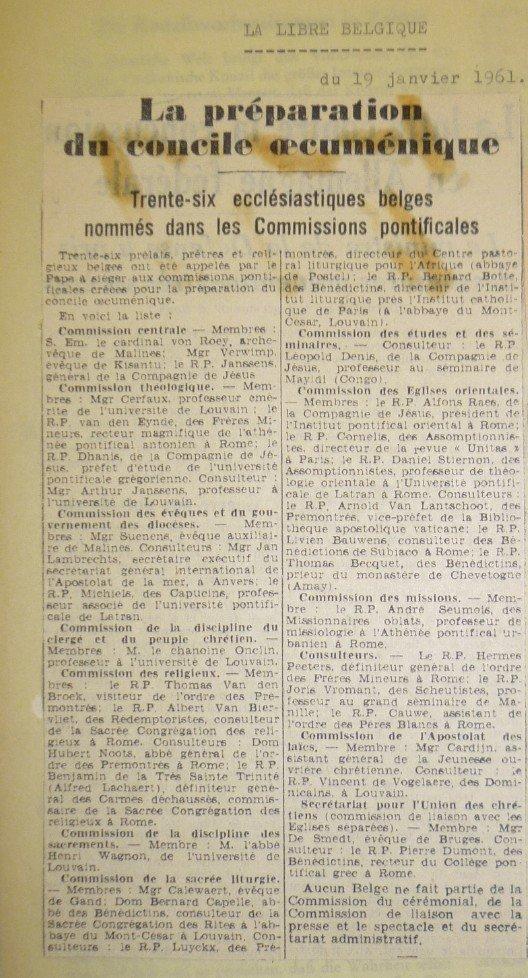 La Libre Belgique 19 01 1961